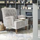 Dinara Dove Gray Accent Chair