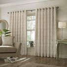 Paoletti Horto Eyelet Curtains (Natural) (90in x 72in)