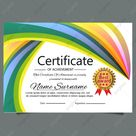 Multipurpose Certificate Template Abstract For Diploma Award Graduation