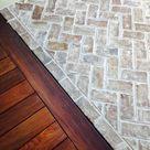 My Plans to Lighten the Brick Floor in My Foyer
