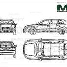 Audi A3 Sportback 2004   Disegno 2D   22671   Model COPY   Italiano