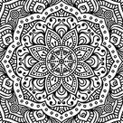 Vector Indian Mandala Background Stock Vector - Illustration of mandala, black: 75514925
