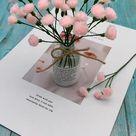 woolen flower craft
