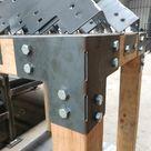 PostHugger™ Halterungen für 4x4 Holzpfosten   Heavy Duty Shop Tisch Pergola Halterungen!   Corners T's L's Andere verfügbar   1/8