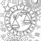 Libra Zodiac Sign coloring page | Free Printable Coloring Pages