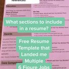 Sections to Include in a Resume (Plus Free Resume Template)