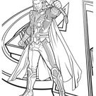Avengers Character Thor Coloring Page - Download & Print Online Coloring Pages for Free