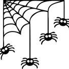 Corner Spider Web Halloween Decal - Trendy Wall Designs