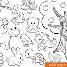 Clip art images by Pixel Paper Prints by pixelpaperprints on Etsy