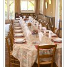 A1 Poster. Lunch table set for many guests ready to be served