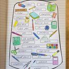 Look inside my school bag | English Vocabulary Craftivity | Vokabeltraining Englisch