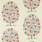 Sanderson Anaar Tree Fabric - Annato/Blueberry