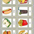 Fast Food ESL Vocabulary Worksheets