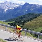 Poster: Nebesky's Poster: Cyclist Riding Over Sella Pass, 2244M Poster