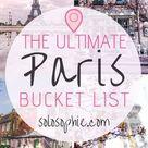 The Ultimate Paris Bucket List of 50+ Activities & Attractions | solosophie
