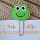 Frog Bookmark, Felt Planner Clips, Frog Planner Marker, Frog Gifts, Planner Book Mark, Teacher Gifts, Office Gifts