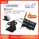 18.41US $ 40% OFF|Dual Band 2400Mbps Wireless PCI E Wi fi Adapter WiFi 6 Intel AX200 For Bluetooth 5.1 802.11ax 2.4G/5Ghz AX200NGW Card Desktop PC|Network Cards|   - AliExpress