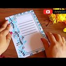 Easy Border Design on Paper | Designs for Front Page | Border for School Project by Arty's Corner