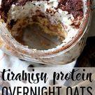 Tiramisu Protein Overnight Oats | Healthy Make Ahead Breakfast Recipe