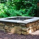 How to Build a Gorgeous Backyard Fire Pit from Cement Blocks
