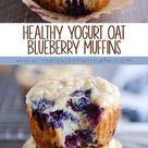 Healthy Yogurt Oat Blueberry {or Chocolate Chip!} Muffins