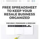 FREE Reseller Spreadsheet for Inventory (Ebay Poshmark) |