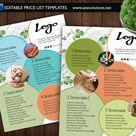 Green leaf flyer spa service Price list makeup service price | Etsy