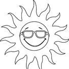Coloriage Soleil te regarde dessin gratuit à imprimer
