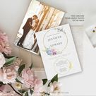 Wedding Invite, Wedding Invitation template download, Wedding Invite Template, Boho Greenery Rustic