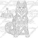 Printable Alaskan Malamute Coloring Pages Sheets - ColoringBase