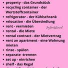 Deutsch wörter | Wohnen