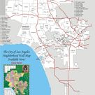 Map - Individual Communities of the City of Los Angeles, California - Larger View