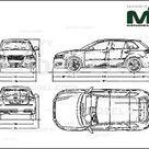 Audi S3 Sportback 2009   Disegno 2D   30137   Model COPY   Italiano