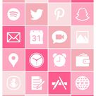 iOS Icon Lifetime All Access Pack   Pastel Pink iPhone IOS14 App Icons Pack   Aesthetic Personalized Home Screen   30 Icons + Bonus