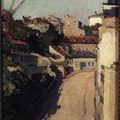 Auguste Lepère, 1900 - The Rue Lepic and scrub Montmartre - fine art print - Metal print (Aluminium Dibond) / 60x90cm - 24x35\