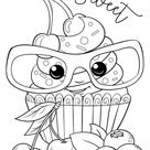 Free & Easy To Print Cupcake Coloring Pages