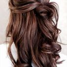 Half Up-Half Down Hairstyles For Long Hair With Curls   Hair styles, Dyed hair purple, Long hair styles