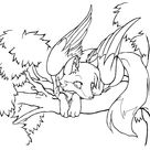 Cute Winged Kitsune Coloring Pages   Free Printable Coloring Pages