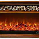 HWLG Fireplace TV Stands,Modern 3D Electric Fire Realistic LED Flame Effect Fireplace 750/1500W 7 Day 24hr Timer and Remote Control Wooden TV Cabinet with Fireplace core, Fake Fireplace,7