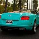2013 Bentley Continental GTC V8 Beverly Hills edition is dressed in Tiffany Blue   Luxurylaunches