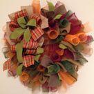 Fall Wreath Burlap