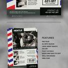 Barbershop Flyer A4 Template PSD
