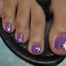 Purple Pedicure