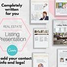 Listing Presentation -Real Estate Marketing, Canva, Real Estate Listing, Real Estate Listing Presentation, Realtor Listing Presentation Sold