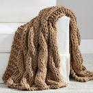 Colossal Handknit Throw Blanket