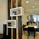 Raumteiler aus Holz zur funktionalen Dekoration der Räume
