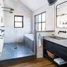 Room Envy: At Serenbe, a master bath with a modern farmhouse aesthetic - Atlanta Magazine