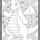 Color Me Dragonite - Custom Pokemon Coloring Card