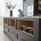 Dark Grey Shaker Style Kitchen