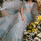 Indian Weddings   Designer Bridal Lehenga   Intimate Wedding   Anushree Reddy   Blue Lehenga
